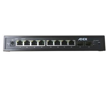 ADEX AD1000-8GPD-2FM reversní poe managed switch, 8x Gbit port,2x SFP, metal