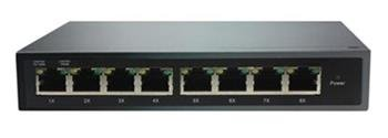 ADEX ADS108GRP-1PO reversní poe managed switch, 8x Gbit port (1x poe out), , metal